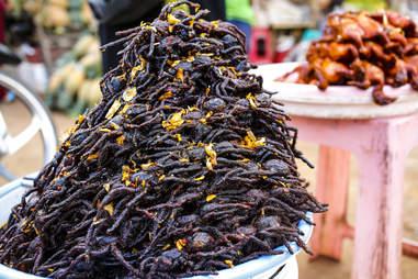 fried tarantula in Cambodia