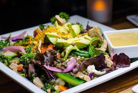 Healthy food and vegan options at GreenSpace Cafe in Ferndale