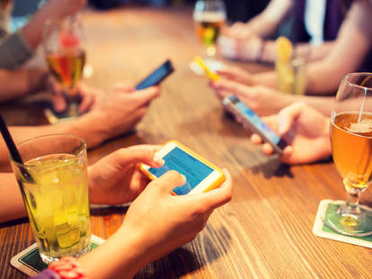 Smartphones and beer