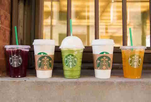 Assorted Starbucks Drinks for summer