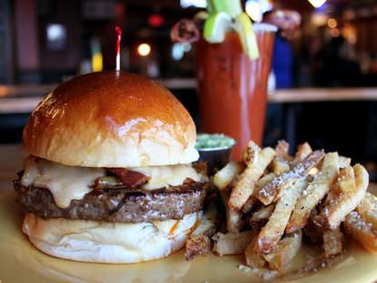 Creative burgers at Oscar's Pub & Grill Milwaukee