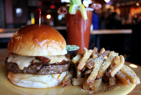 Creative burgers at Oscar's Pub & Grill Milwaukee