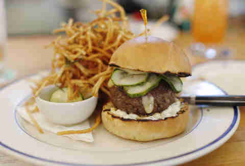 Clark's Oyster Bar Hamburger Austin