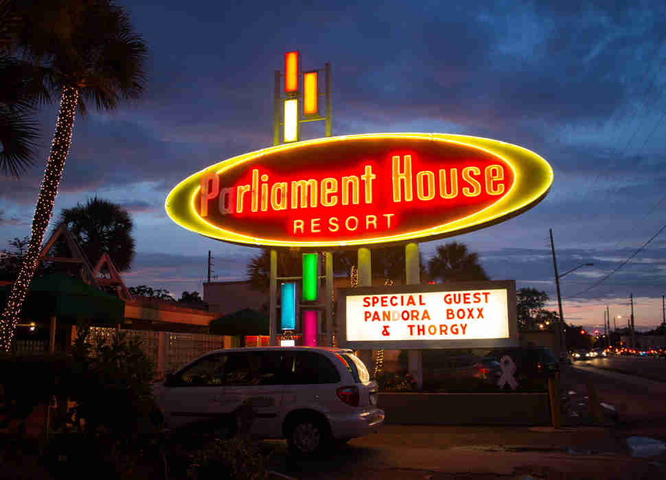 Parliament House Resort sign in Orlando