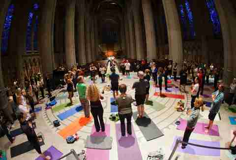 Grace Cathedral yoga