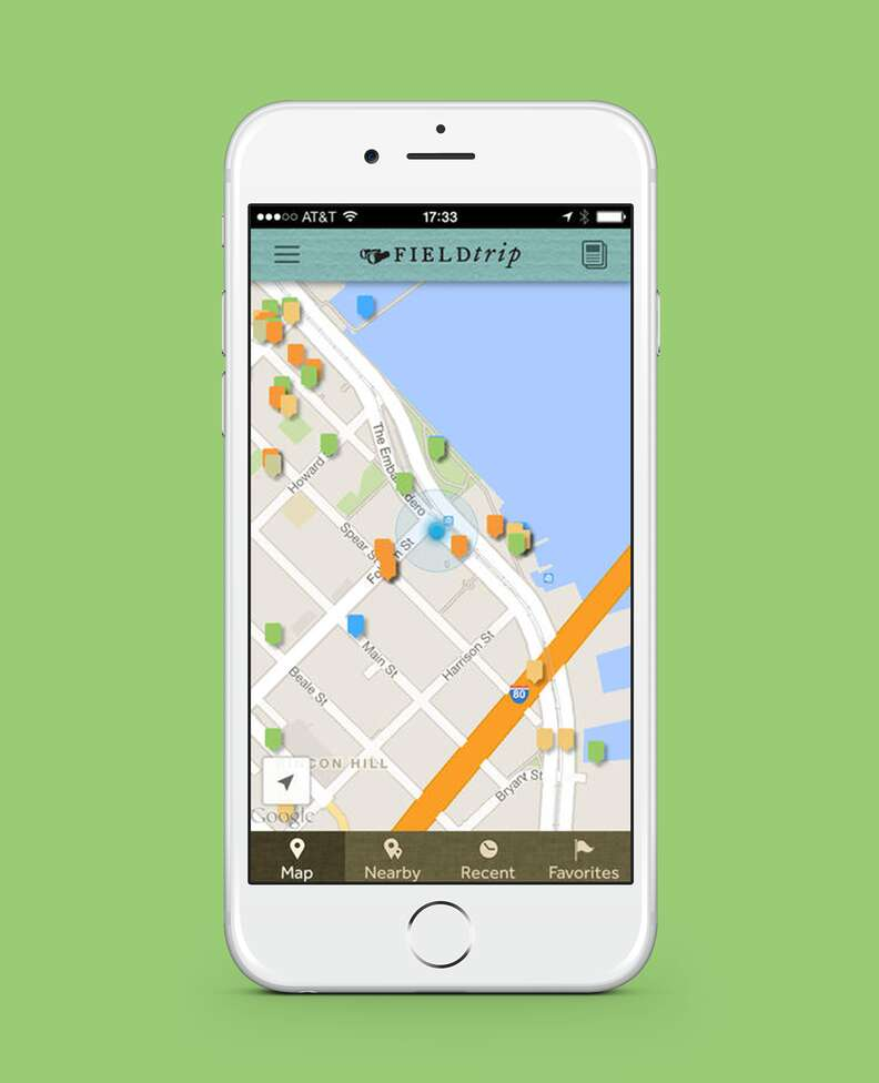 screenshot of field trip app on iphone