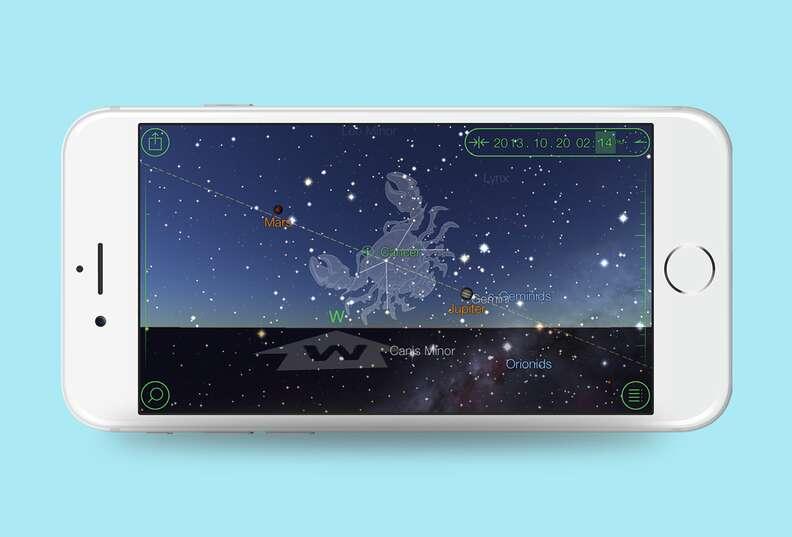 screenshot of star walk app on iphone