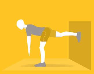 single let body weight deadlift