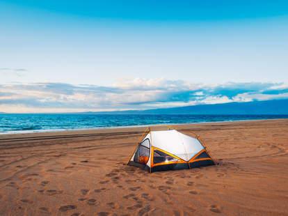 Hawaii beach camping