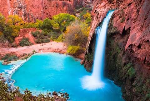 waterfalls you can swim in grand canyon hawaii california thrillist