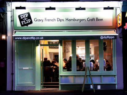 Great burgers and gravy at Dip & Flip in London