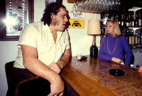Andre the Giant Drinking