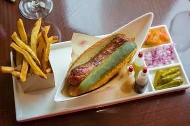 Allium hot dog