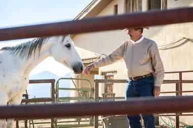 man with horse in Arizona