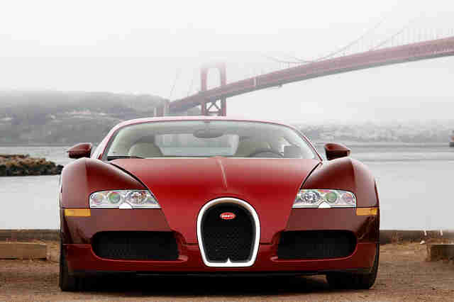 Red Bugatti Veyron in San Francisco
