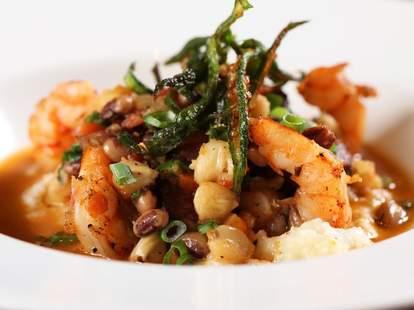 Southern Art and Bourbon Bar shrimp and grits