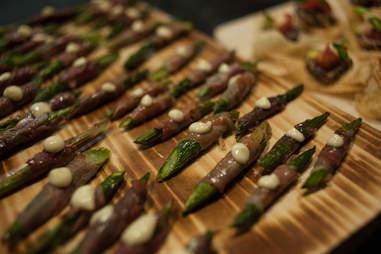 Toruk Cirque du Soleil asparagus prosciutto snack