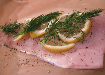 trout with lemon and dill