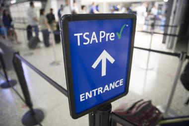 TSA PreCheck Sign