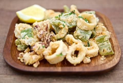 fried calamari squid