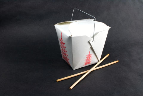 Chinese food takeout box