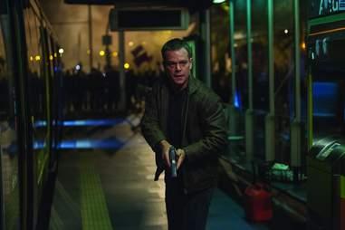 Jason bourne with a gun