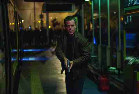 Jason bourne with a gun