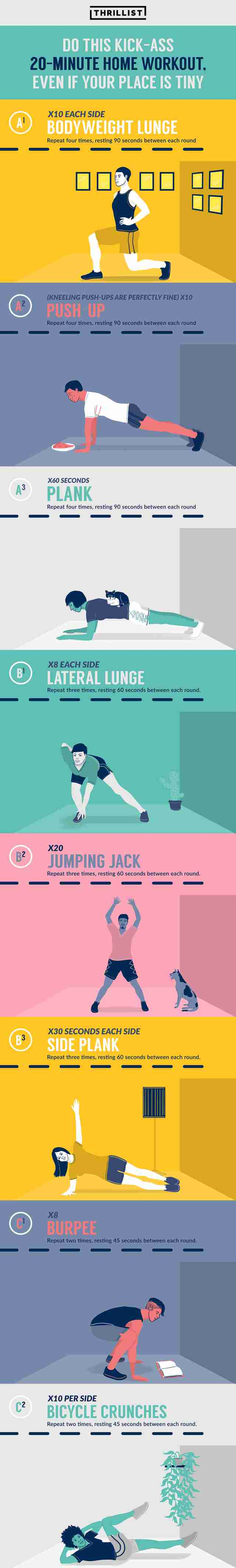 bodyweight home workout infographic