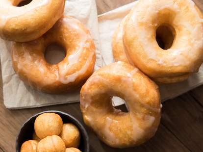 glazed donuts donut holes