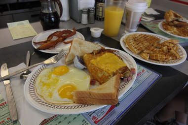 Bacon and eggs at Waffle House