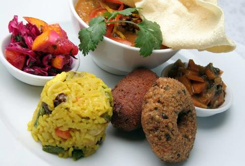 Vegan and vegetarian food at Manna in London