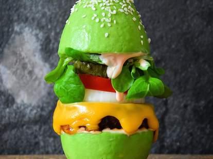 Avocado bun burger