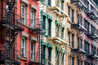 Apartment buildings in NYC