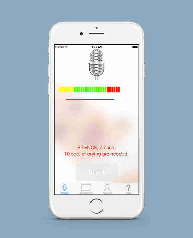 cry translator app in iphone