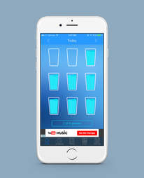 daily water app in iphone 6