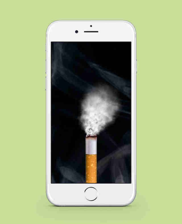 virtual cigarette smoking app