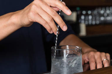 shaking a cocktail