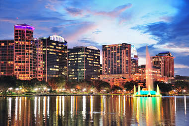 Orlando skyline night
