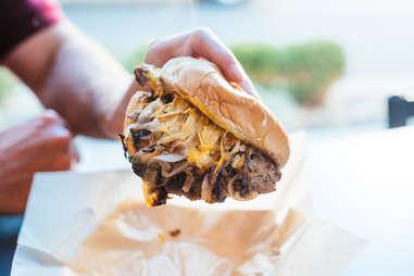 Garage Burgers & Beer Onion Burger