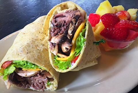 old point tavern roast beef wrap
