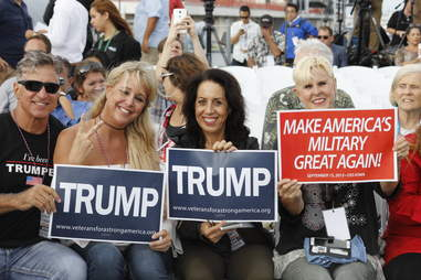 Trump supporters at rally