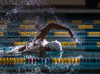 Olympic swimmer in the pool