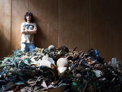 photo of Boyal Slat with ocean trash