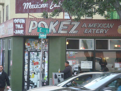 Cheap Mexican food and vegetarian options at Pokez in San Diego