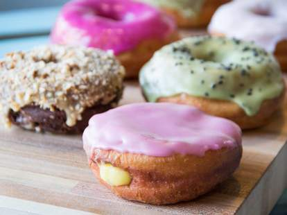 Great vegan donuts at Nomad Donuts in San Diego