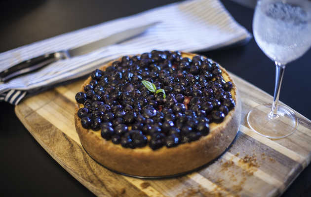 I Got Baked and Baked a Cannabis-Infused Blueberry Cheesecake
