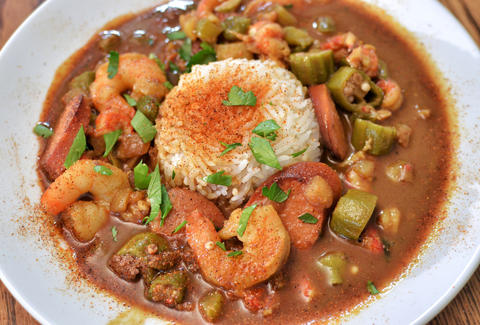 Creole food and vegetarian options at DEJAVU Memphis