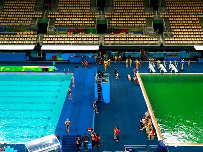 Rio Olympics 2016 Pools Turning Green