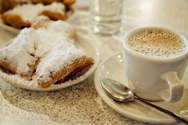Beignets and cafe au lait