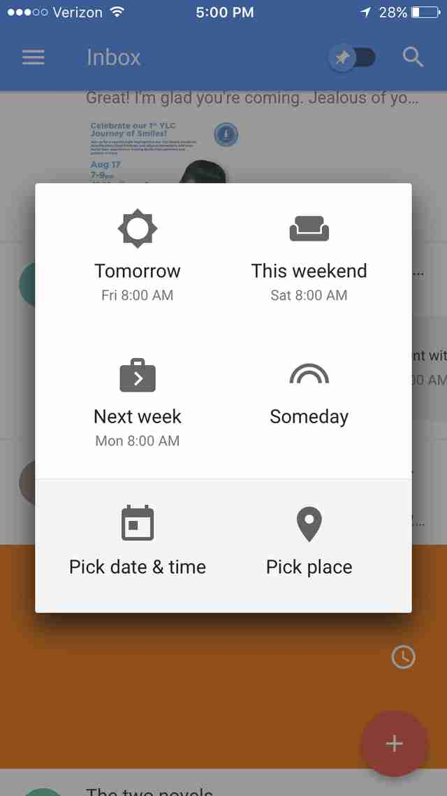 inbox by gmail for iOS